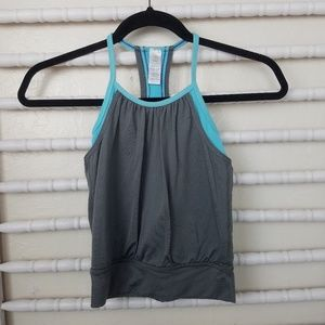 Lululemon Ivivva | Double Dutch Gray and Blue Tank